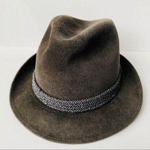 Vintage Austrian Velvet Fedora Hat